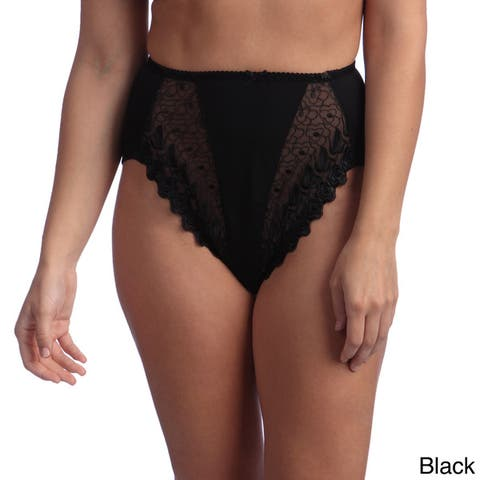 Valmont Embroidered Lace Hi-Cut Panty Brief