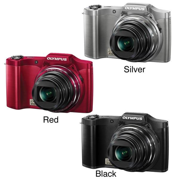 Olympus SZ-12 14MP Digital Camera with Deluxe Bonus Accessory Kit (Refurbished)