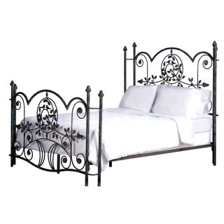 Corsican Iron Blue Bird Vintage Metal Bed