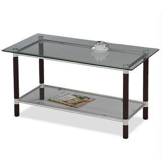Furniture Of America Kams Bottom Trays 2 Drawer End Table