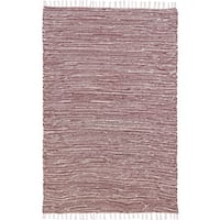 Flat Weave Reversible Brown Chenille Rug - 4' x 6'
