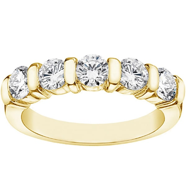 14k Yellow Gold 1ct TDW Diamond Wedding Band