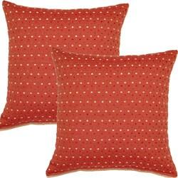 Fun Dots Spice 17-inch Throw Pillows (Set of 2)