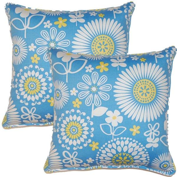 Gemma Bluebell 17-inch Throw Pillows (Set of 2)
