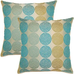Kenzo Baltic 17-inch Throw Pillows (Set of 2)