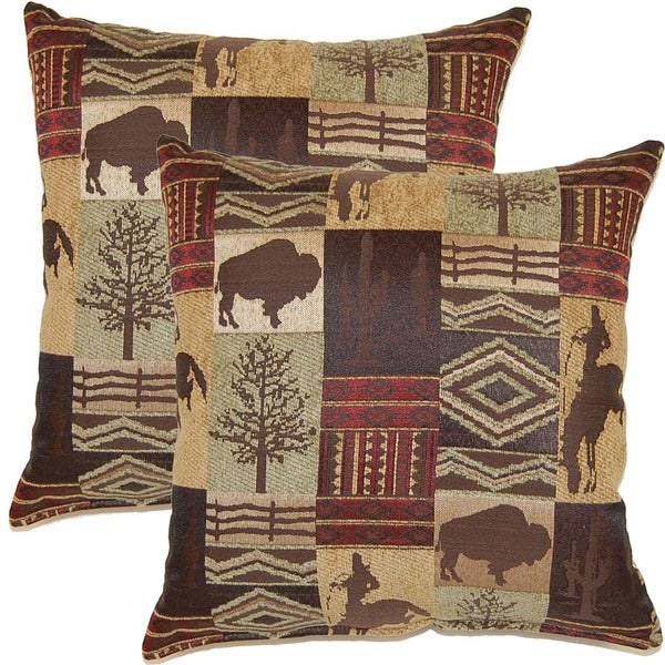 Laramie Sagebrush 17-inch Throw Pillows (Set of 2)