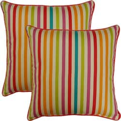 Line Up Sorbet 17-inch Throw Pillows (Set of 2)