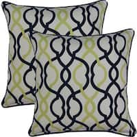 Make Waves Domino 17-inch Throw Pillows (Set of 2)