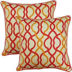 Make Waves Sorbet 17-inch Throw Pillows (Set of 2)