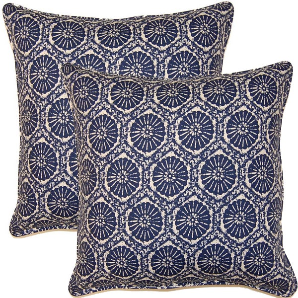 Seabreeze Indigo 17-inch Throw Pillows (Set of 2)