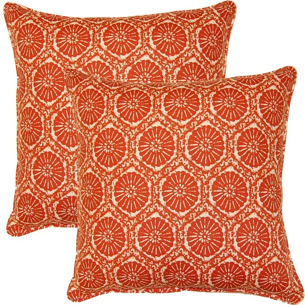 Seabreeze Lobster 17-inch Throw Pillows (Set of 2)