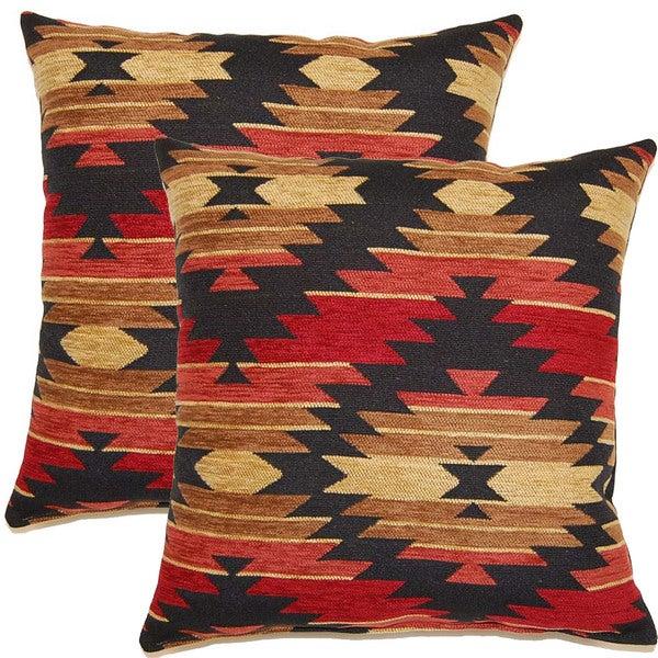 Tahoe Salsa 17-inch Throw Pillows (Set of 2)