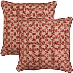 Tala Raspberry 17-inch Throw Pillows (Set of 2)
