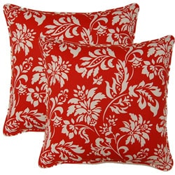 Wexford Berry 17-inch Throw Pillows (Set of 2)