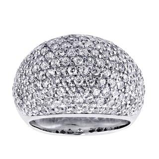 14k/ 18k Gold 4 1/5ct TDW Diamond Pave Dome Ring