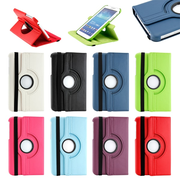 Gearonic Rotating PU Leather Case for Samsung Galaxy Tab 3 7.0 P3200