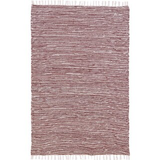 Brown Reversible Chenille Flat Weave 5x8' Rug