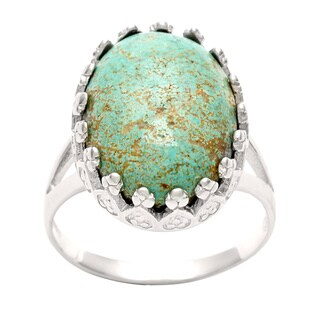 Silvermoon Sterling Silver Carico Lake Turquoise Ring