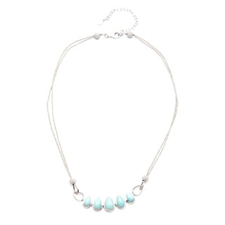 Sterling Silver Blue Moon Turquoise Necklace