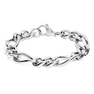 Stainless Steel Men's High-polish Figaro Chain Bracelet