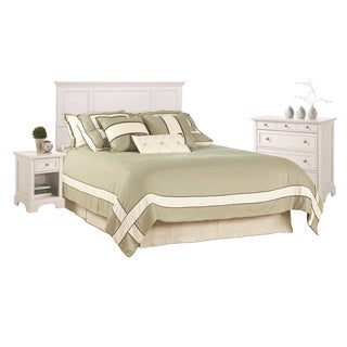 Home Styles Naples White King Headboard, Night Stand, and Chest