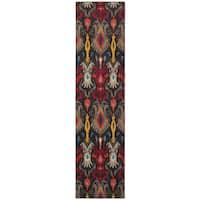 "Vibrant Boheiman Grey and Multicolored Area Rug (2'7 x 10') - 2'7"" x 10'"