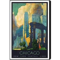 Oliver Gal 'Chicago NY Central Lines' Canvas Art