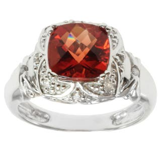 Michael Valitutti 14k White Gold Ruby Sunstone and Diamond Ring|https://ak1.ostkcdn.com/images/products/8297596/8297596/Michael-Valitutti-14k-White-Gold-Ruby-Sunstone-and-Diamond-Ring-P15615650.jpg?impolicy=medium