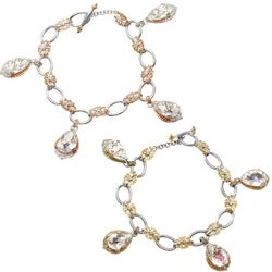 Michael Valitutti Two-tone Rock Crystal, Blue and White Sapprhire or Blue, White and Pink Sapphire, Ruby and Spinel Bracelet