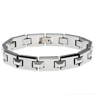 La Preciosa Men's Tungsten Link Bracelet