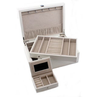 Heiden Evelyn White Leather Jewelry Box