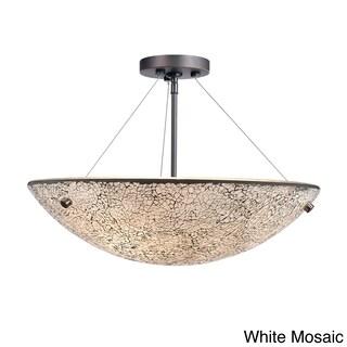 Dish 3-light Metallic Bronze Semi Flush Mount