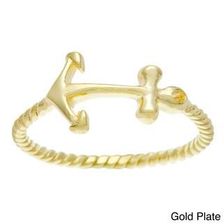 La Preciosa Sterling Silver Sideways Anchor Ring