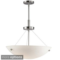 Dish 3-Light Satin Nickel Pendant