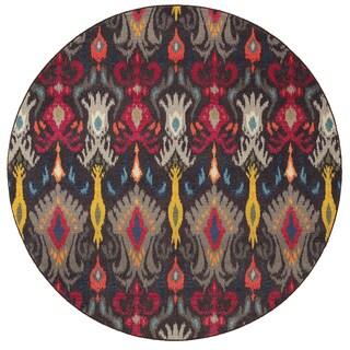 Vibrant Boheiman Grey/ Multi Rug (7'8 Round)