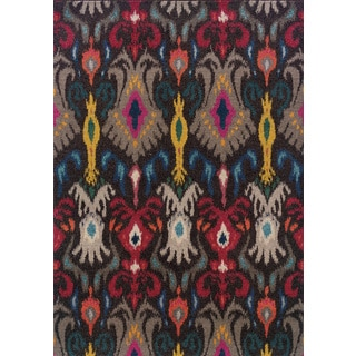 Vibrant Boheiman Abstract-pattern Gray/ Multicolored Rug (9'9 x 12'2)