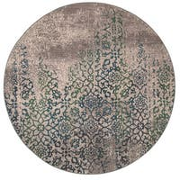 Distressed Motif Grey/ Blue Rug - 7'8