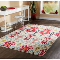 "Vibrant Bohemian Ivory/ Red Rug (9'9 x 12'2) - 9'9"" x 12'2"""
