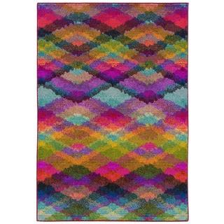 Bold Argyle Multi/ Pink Area Rug (7'10 x 11')