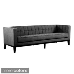 Roxbury Tufted Microfiber Mid-century Style Sofa