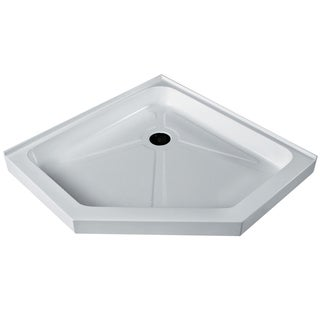Vigo White Short/Low Profile Neo-Angle Shower Tray (42x42)