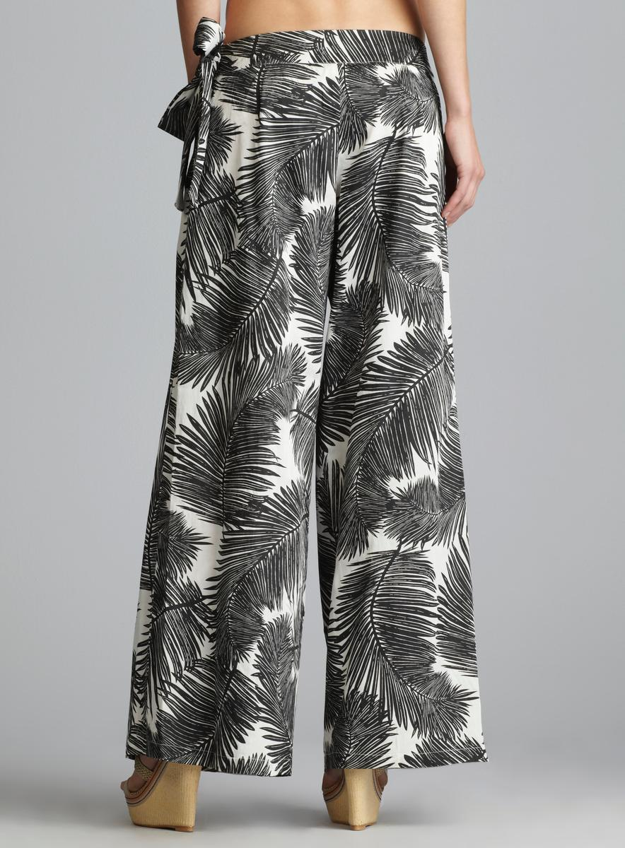 Vince Camuto Patterned Tie Waist Cover Up Pants