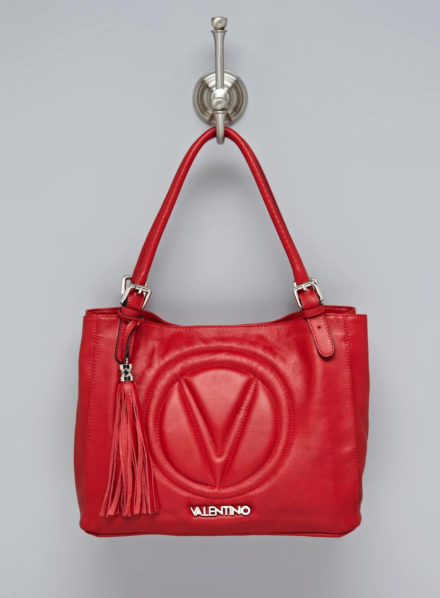 Valentino Luisa Signature Leather Satchel