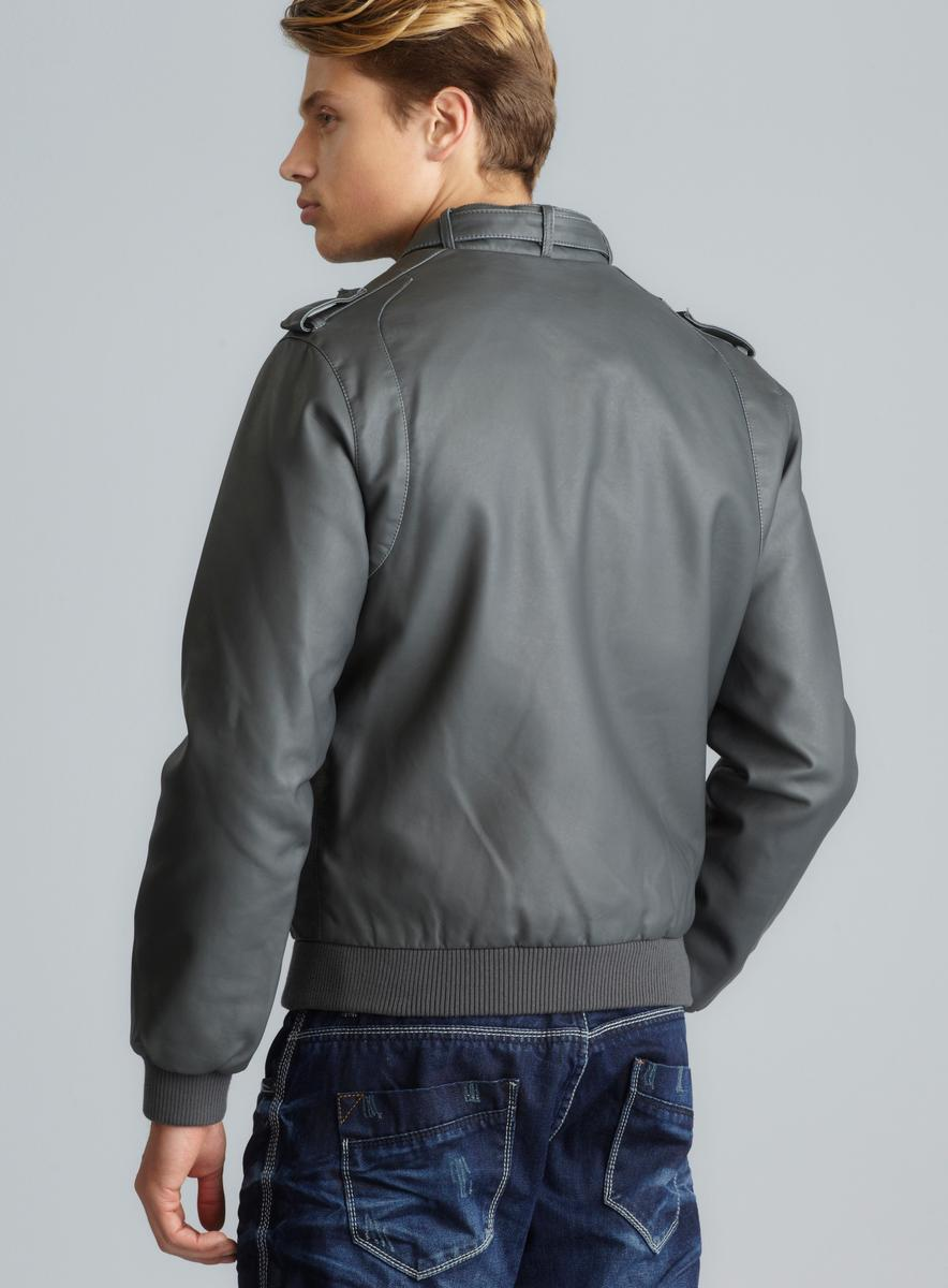 Members Only Faux Leather Iconic Racer Jacket - Thumbnail 1