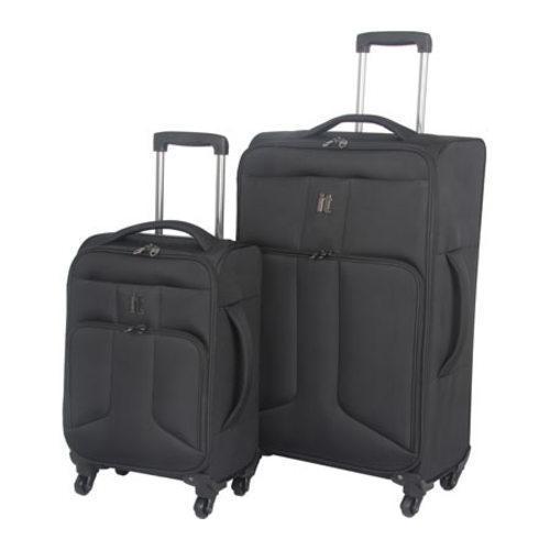 IT Luggage Amsterdam 2 Piece Set Black