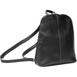 Women's Royce Leather Vaquetta Zip Around Sling Backpack Black