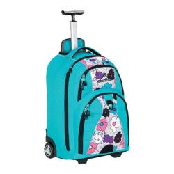 High Sierra Freewheel Wheeled Book Bag Tropic Teal/Cut-Out Flowers ...