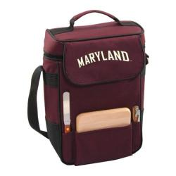 Picnic Time Duet Maryland Terrapins Embroidered Burgundy
