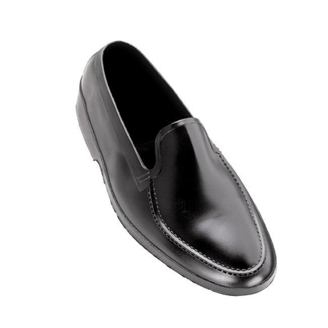 Weather Fashions Men's Black Rubber Moccasin