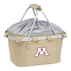 Picnic Time Metro Basket Minnesota golden Gophers Embroidered Tan